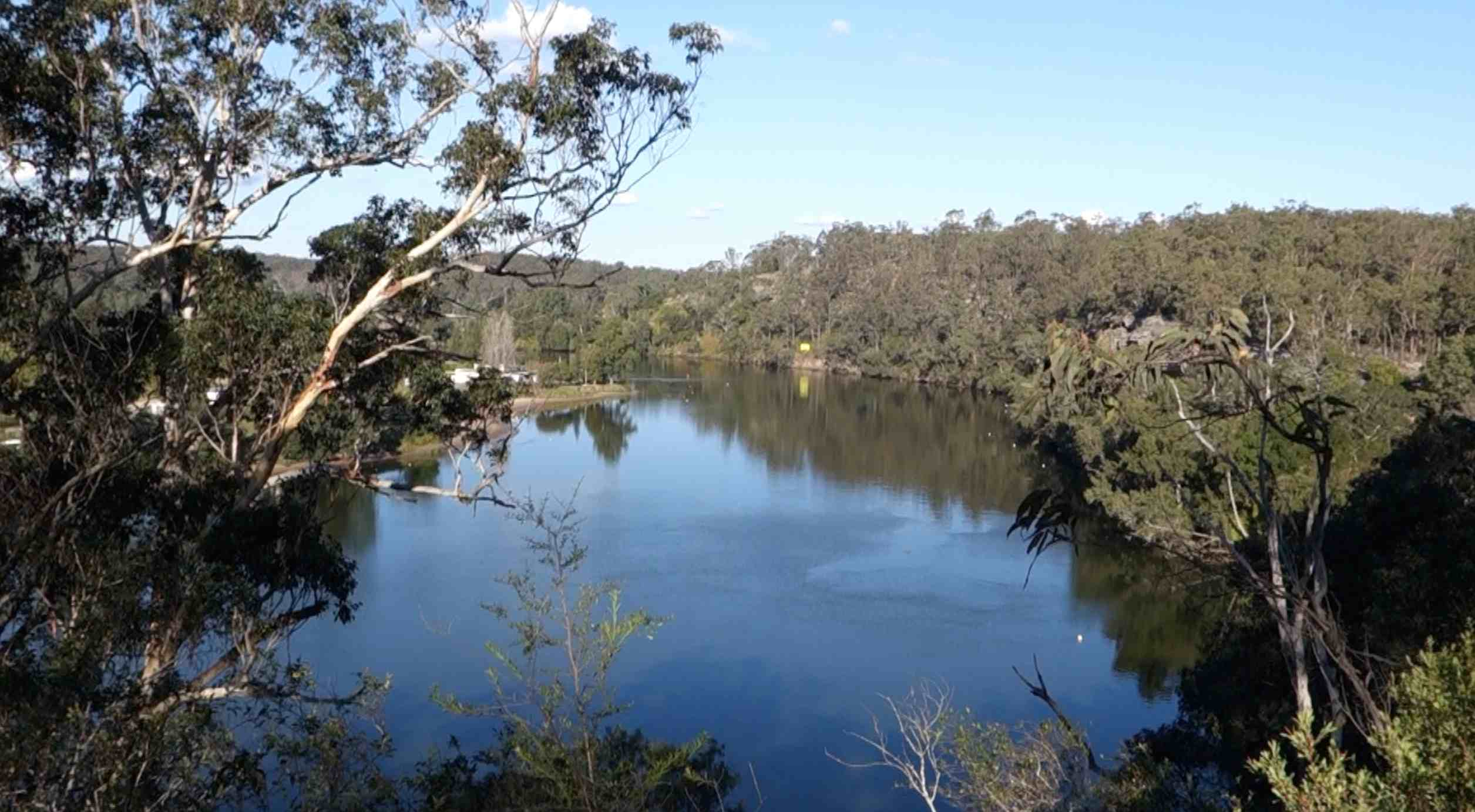 Looking upon the Hawkesbury River from above